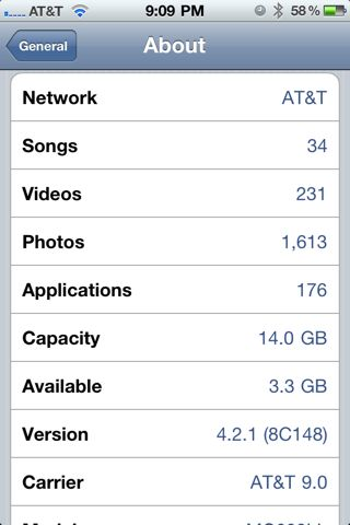 iPhone Capacity and Available Space